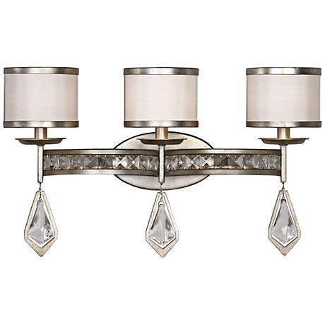 "Uttermost Tamworth 22""W 3-Light Silver Leaf Bath Light"