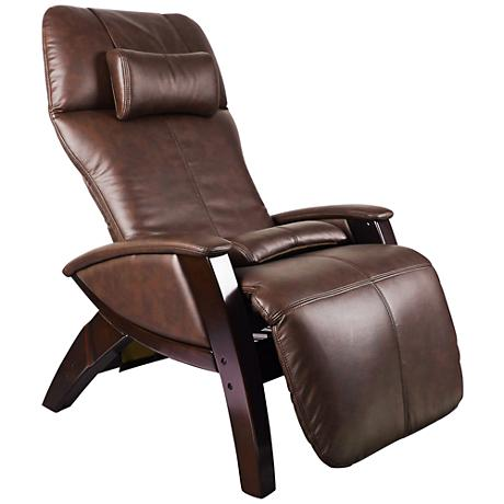 Svago Lusso Chocolate and Walnut Zero Gravity Massage Chair - Style # 8V599