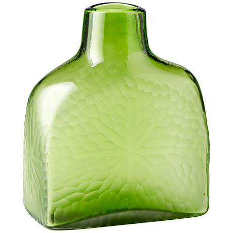 "Marine Green 11 1/4"" High Decorative Glass Vase"