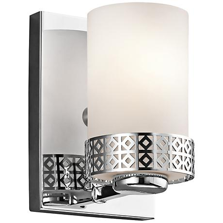 "Kichler Contessa Chrome 7"" High Satin Glass Wall Sconce"
