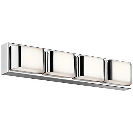 "Kichler Nita 4-Light 25 1/4"" Wide LED Chrome Bath Light"