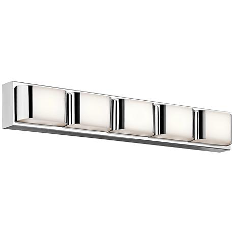 "Kichler Nita 5-Light 31 1/4"" Wide LED Chrome Bath Light"