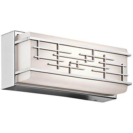 "Kichler Zolon 12 1/4"" Wide LED Chrome Linear Bath Light"