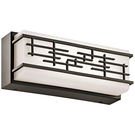 "Kichler Zolon 12 1/4""W LED Olde Bronze Linear Bath Light"