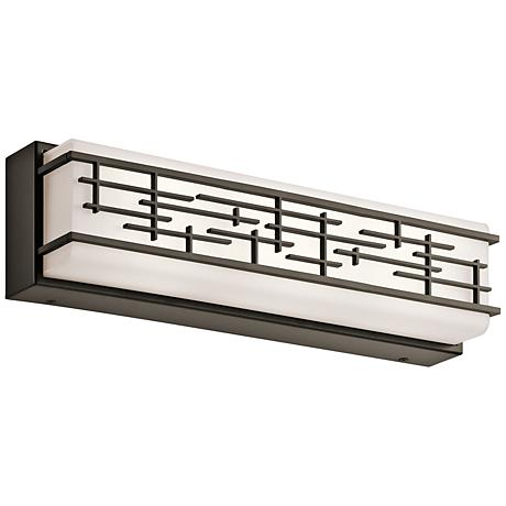 "Kichler Zolon 18"" Wide LED Olde Bronze Linear Bath Light"
