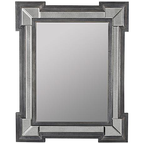 "Hailey Gray Washed Wood 31 1/2""x39 1/2"" Floor Mirror"