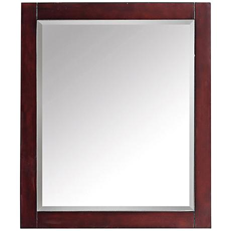"Avanity Espresso Brown 28""x32"" Decorative Vanity Mirror"