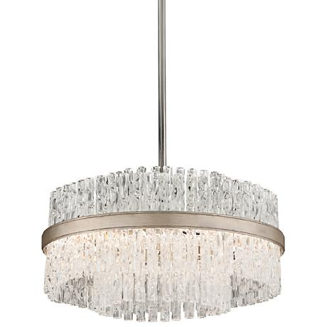 "Corbett Chime 20"" Wide Silver Leaf Pendant Light"