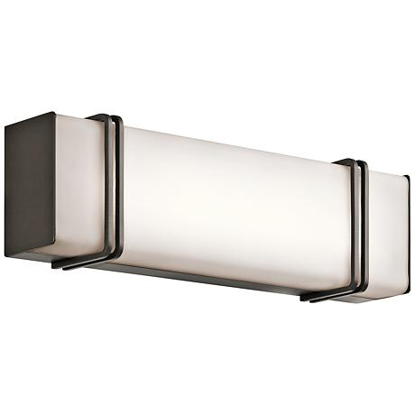 "Kichler Impello 18 1/4"" Wide LED Linear Bronze Bath Light"
