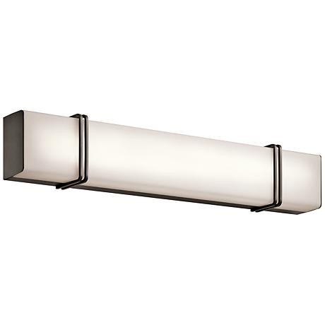 "Kichler Impello 30 1/4"" Wide LED Linear Bronze Bath Light"