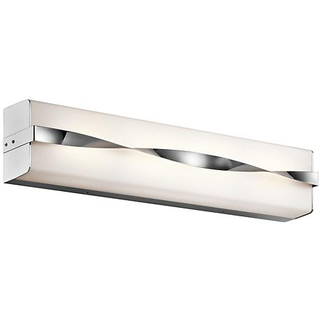 "Kichler Tori 24 1/4"" Wide LED Linear Chrome Bath Light"