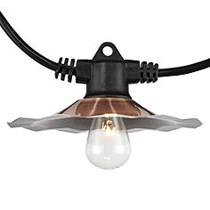 European Cafe 35' Copper Shade 7-Socket Light String