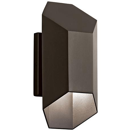 "Kichler Estella 12"" High Bronze LED Outdoor Wall Light"