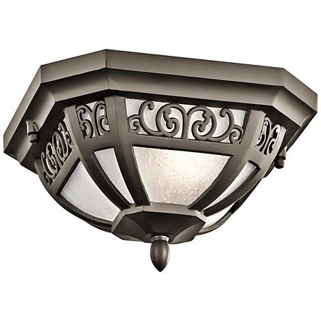 "Kichler Park Row 11""W Olde Bronze Outdoor Ceiling Light"