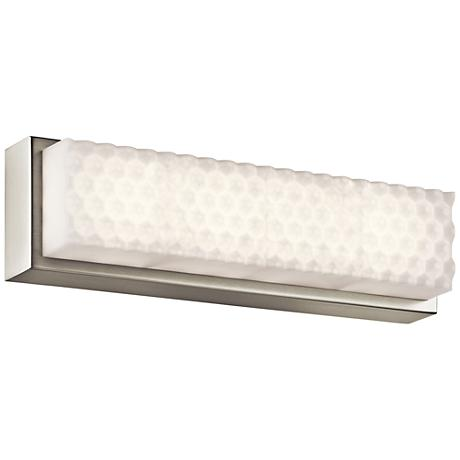 "Elan Merco 17"" Wide Brushed Nickel LED Bath Light"