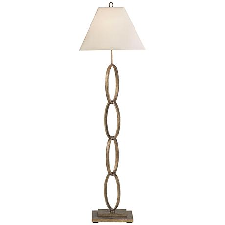Currey and Company Bangle Silver Leaf Chain Floor Lamp