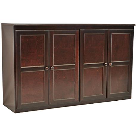 Kelby Cherry Maple Veneer 4-Door Multi Storage Cabinet