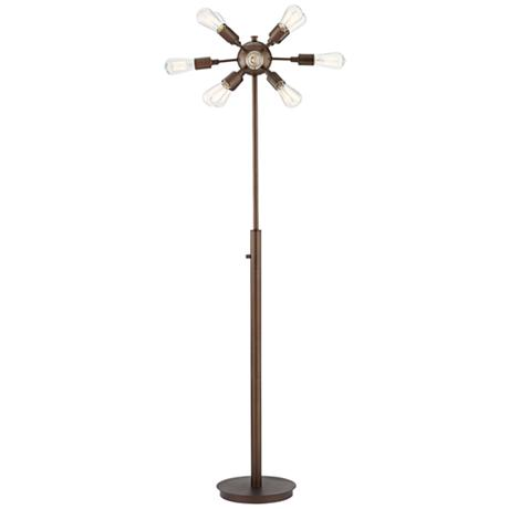 Possini Euro Hemingson 12 Light Bronze Floor Lamp 8W785