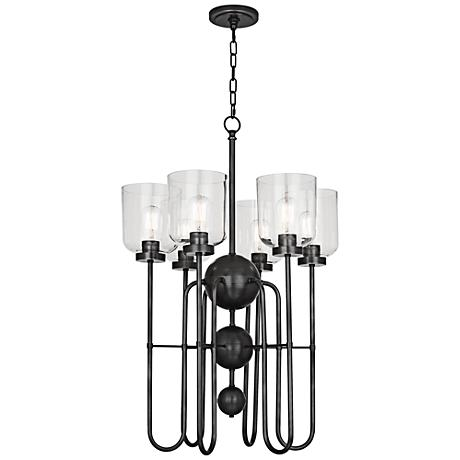"Tyrie 22 3/4"" Wide Patina Bronze Chandelier"