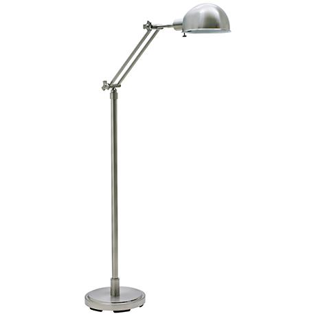 House of Troy Addison Adjustable Satin Nickel Floor Lamp