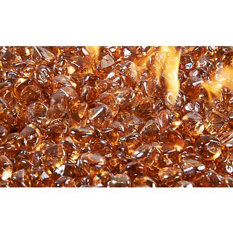 Copper Large Crystal Fire Gems Fire Pit Media 5 Lb. Pack