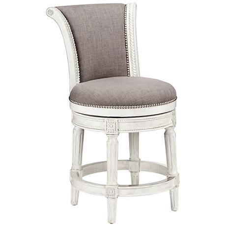 Xander 24 1 2 Quot Cream Fabric Swivel Counter Stool 8x142