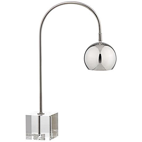Lavina Polished Nickel and Crystal Task Desk Lamp