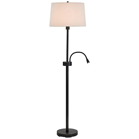 Eco Oil Rubbed Bronze Floor Lamp with LED Reading Light