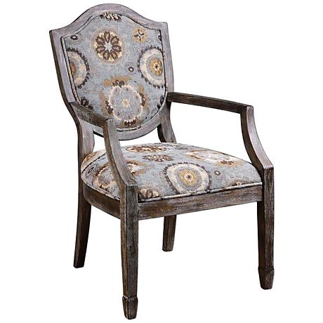 Uttermost Valene Weathered Solid Birch Accent Armchair