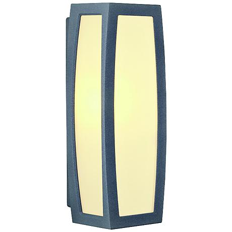 "Meridian Box 14 1/2"" High Anthracite Outdoor Wall Light"