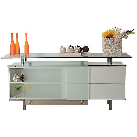 Miami White Contemporary Buffet Unit