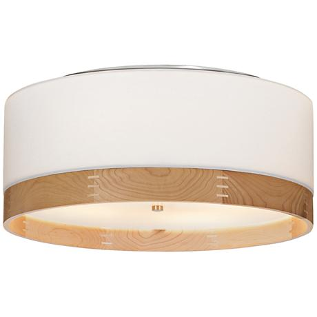 "Tech Lighting Topo 20""W Maple-Band Nickel Ceiling Light"