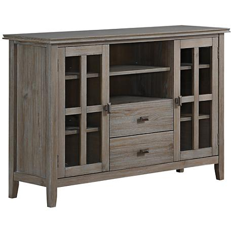 Artisan Distressed Gray 2-Door TV Stand Media Chest