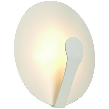 "Air Indi 13"" High LED White Steel Round Wall Sconce"