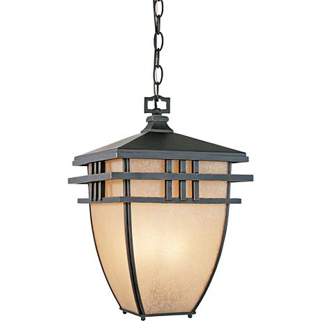 "Dayton 10"" Wide Aged Bronze Patina Outdoor Hanging Light"