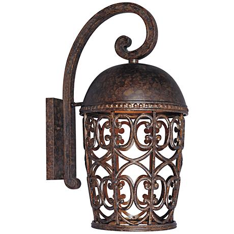 "Amherst 21 1/4"" High Burnt Umber Outdoor Wall Light"