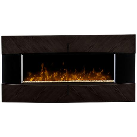 Waltz Diamond Ash Wall-Mount Steel Electric Fireplace