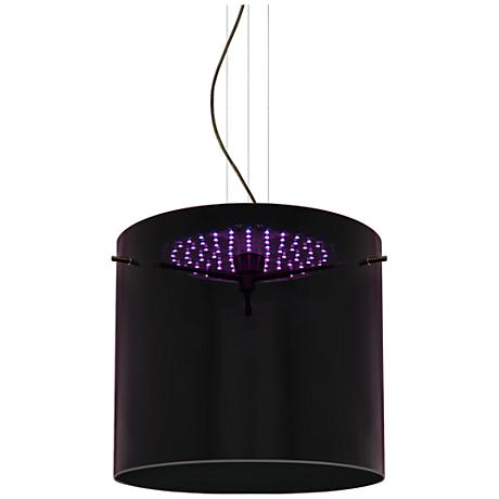 "Besa Fusion 11 3/4""W Purple Glass Bronze LED Mini Pendant"