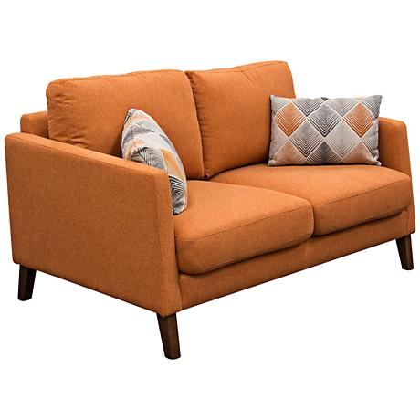 Keppel Hawaiian Sunset Retro Orange 2-Seat Loveseat