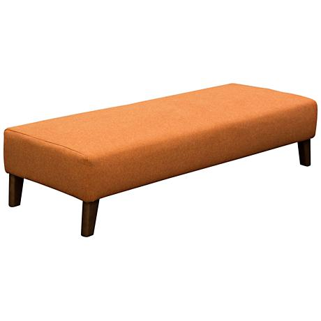 Keppel Hawaiian Sunset Orange Rectangular Bench