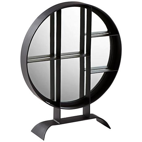 "Nexus Matte Black Iron 24"" x 27"" Tabletop Accent Mirror"