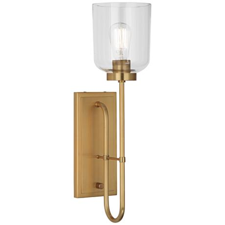 Vintage Plug In Wall Sconces : Tyrie Antique Brass Plug-In Wall Lamp - #8Y932 LampsPlus.com