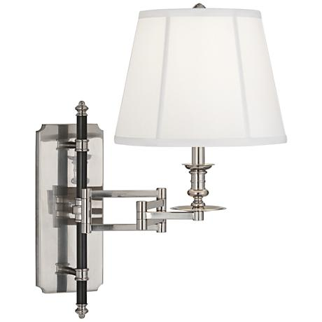 Francis Wall Lamp Antique Silver : Lewis Antique Silver Swing Arm Wall Lamp - #8Y948 www.lampsplus.com