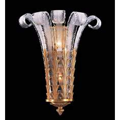 Metropolitan Italian Murano Feather Wall Sconce