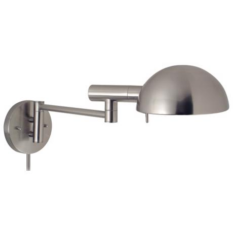 Sonneman Dome Plug-In Swing Arm Wall Lamp