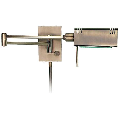 Lite Source Brass Pharmacy Plug-In Swing Arm Wall Lamp