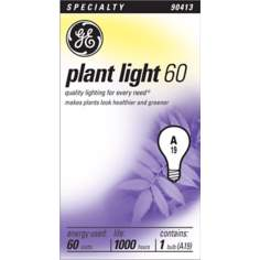 GE Plant Light Bulb - 60 Watts