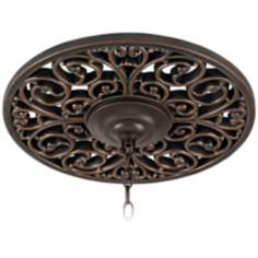 "Open Scroll 16"" Wide Bronze Ceiling Medallion"