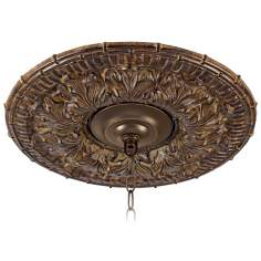 "Transitional 16"" Wide Bronze Ceiling Medallion"