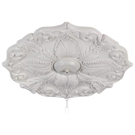 "Traditional 24"" Wide Leaf Motif Ceiling Medallion"